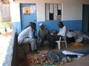 Bernard conducting key informant interviews in Shimoni