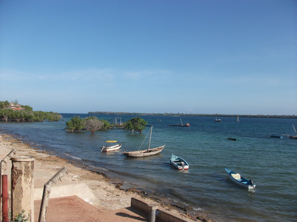 Looking across to Wasini Island from Shimoni waterfront