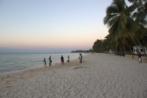 The beach at Wimbe in the evening